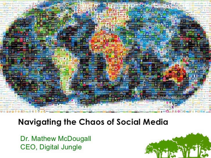 The	  Digital	  Marke.ng	  Experts	  Navigating the Chaos of Social MediaDr. Mathew McDougallCEO, Digital Jungle
