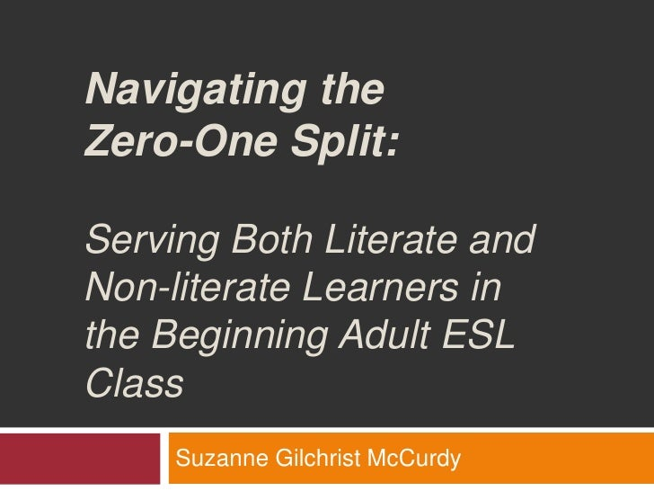 Navigating the Zero-One Split: Serving Both Literate and Non-literate Learners in the Beginning Adult ESL Class<br />Suzan...