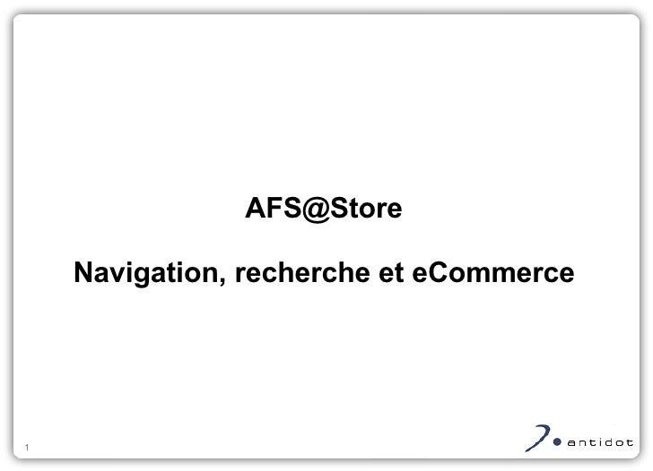 Navigation et Recherche pour les sites E-Commerce