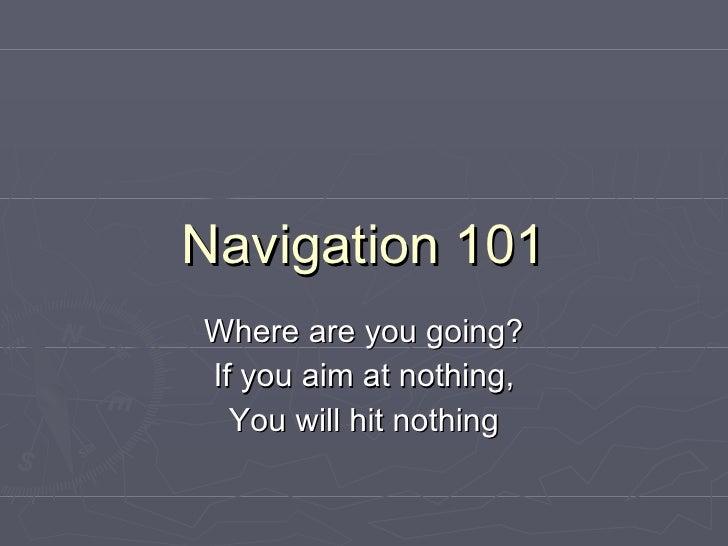 Navigation to Career