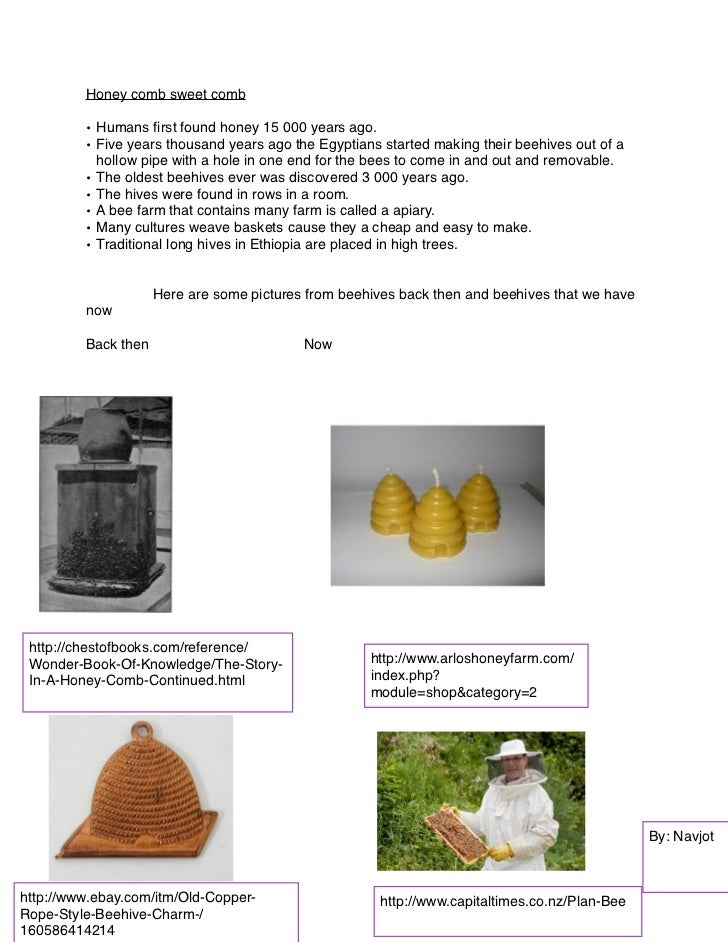 Honey comb sweet comb         • Humans first found honey 15 000 years ago.         • Five years thousand years ago the Egyp...