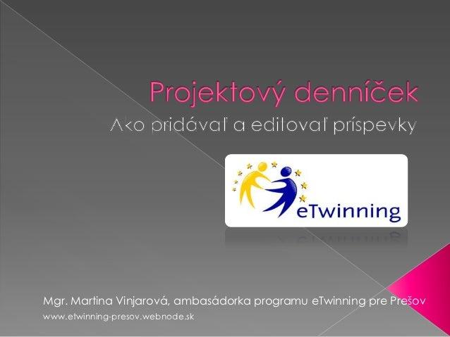 etwinning Projektový denník