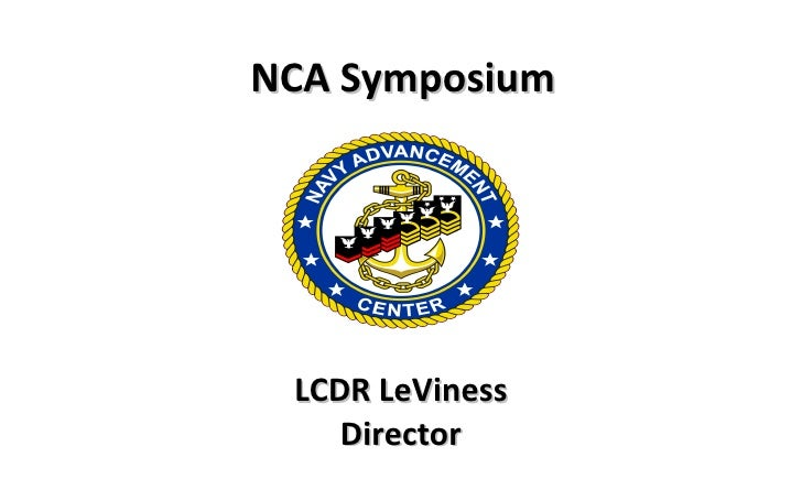 LCDR LeViness Director NCA Symposium