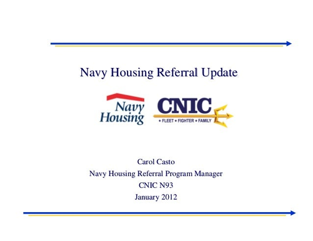 PHMA PDS Navy Housing Referral Update