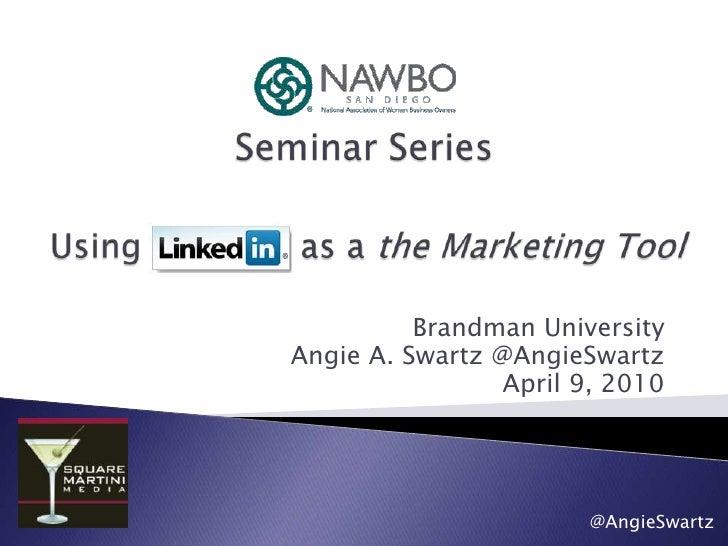 NAWBO San Diego Seminar Series