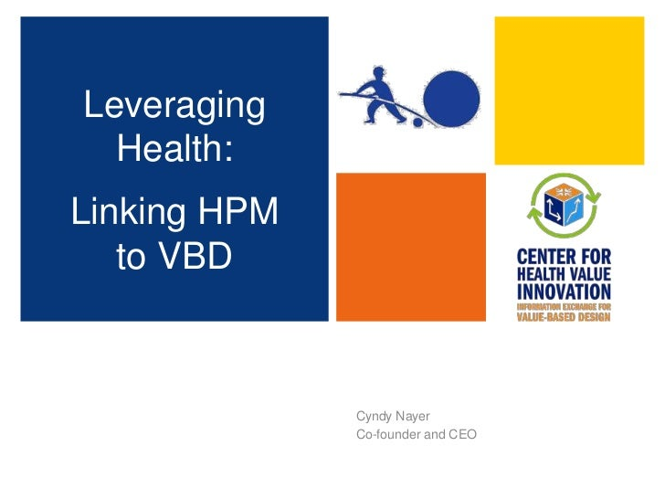 Cyndy Nayer<br />Co-founder and CEO<br />Leveraging Health:  <br />Linking HPM to VBD<br />