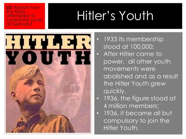 the hitler youth movement was an essential element of hitlers plans