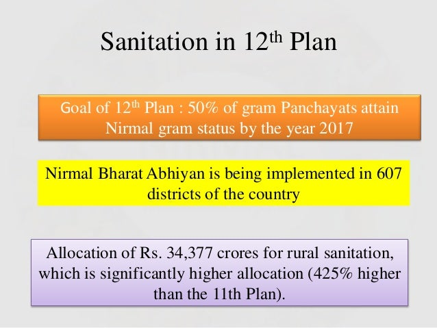 nirmal bharat abhiyan nba essay Nirmal bharat abhiyan (nba) accelerate sanitation coverage in rural areas to achieve the vision of nirmal bharat by 2022 with all gram panchayats in the country.