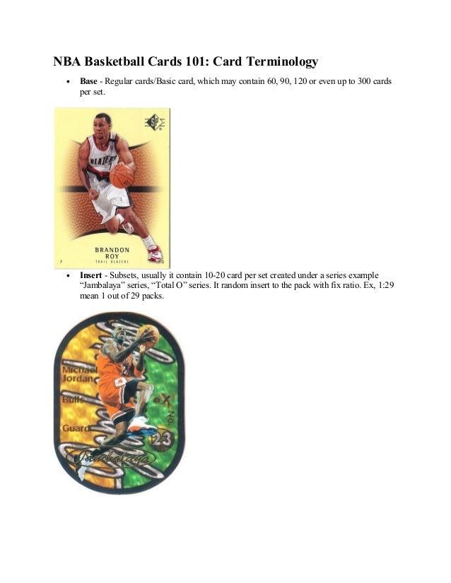 Nba basketball cards 101   card terminology
