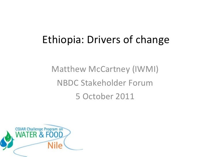 Ethiopia water sector: Drivers of change