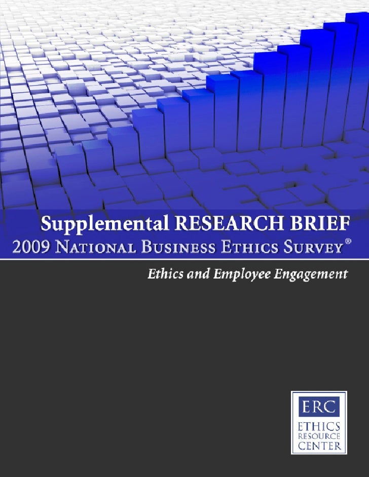 This report was a joint project of the       Ethics Resource Center                 and            Hay Group,a global mana...