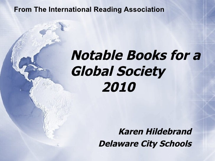 Notable Books for a Global Society 2010