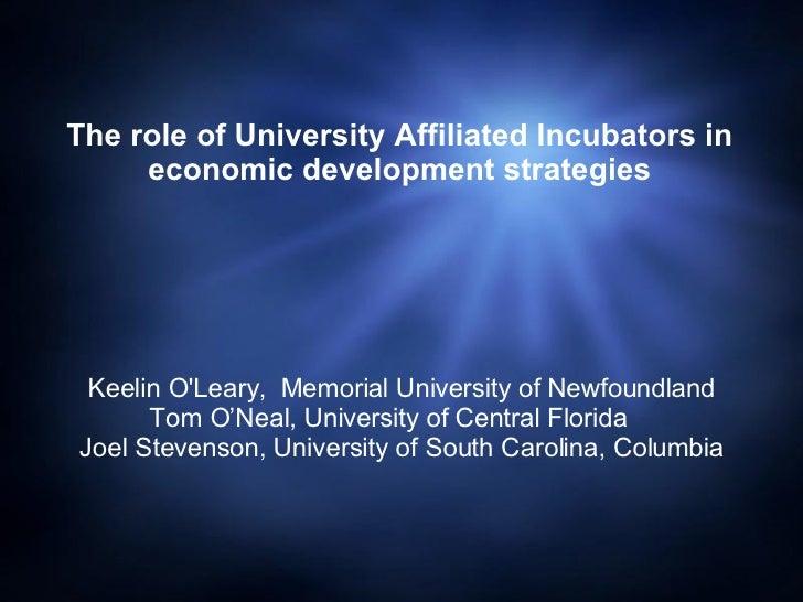 Keelin O'Leary,  Memorial University of Newfoundland Tom O'Neal, University of Central Florida  Joel Stevenson, Universit...