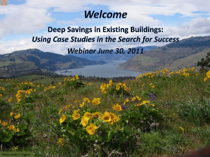 Deep Savings Webinar 6/30/2011Photo credit C. Higgins