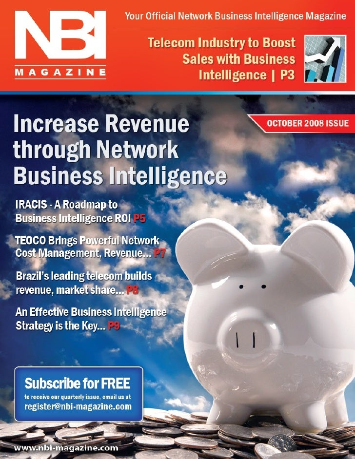 NBI   Your Official Network Business Intelligence Magazine       Editor's Note   Welcome!                                 ...