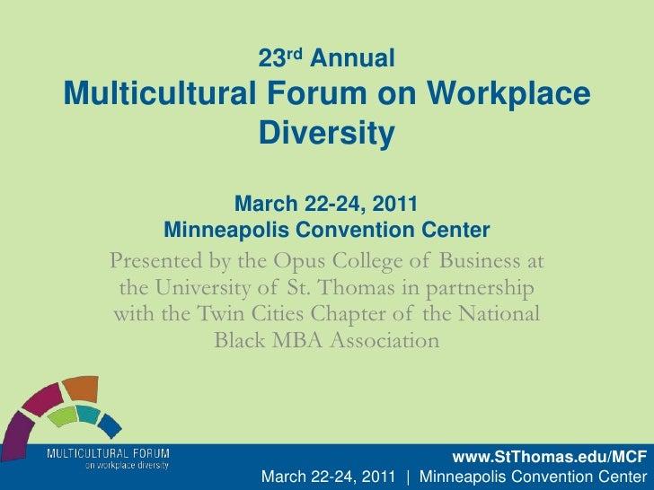 2011 Multicultural Forum