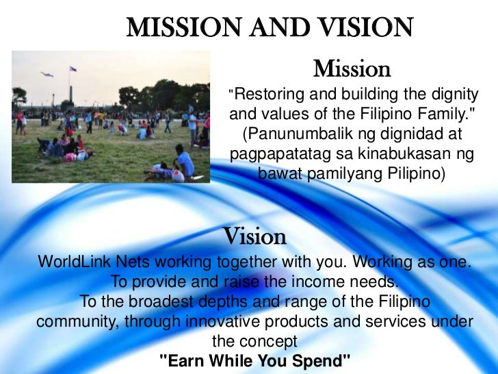 "MISSION AND VISION                                    Mission                         ""Restoring and building the dignity ..."