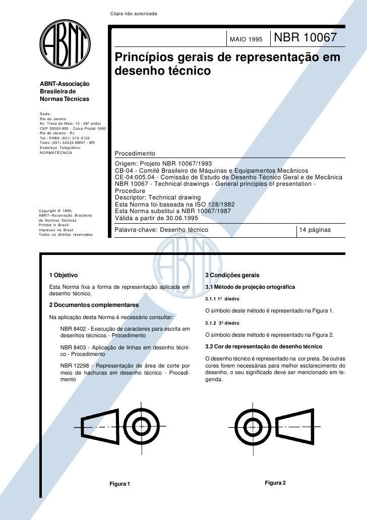 Cópia não autorizada                                                                            MAIO 1995        NBR 10067...