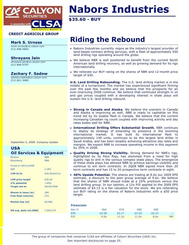 Nabors Industries (NBR)