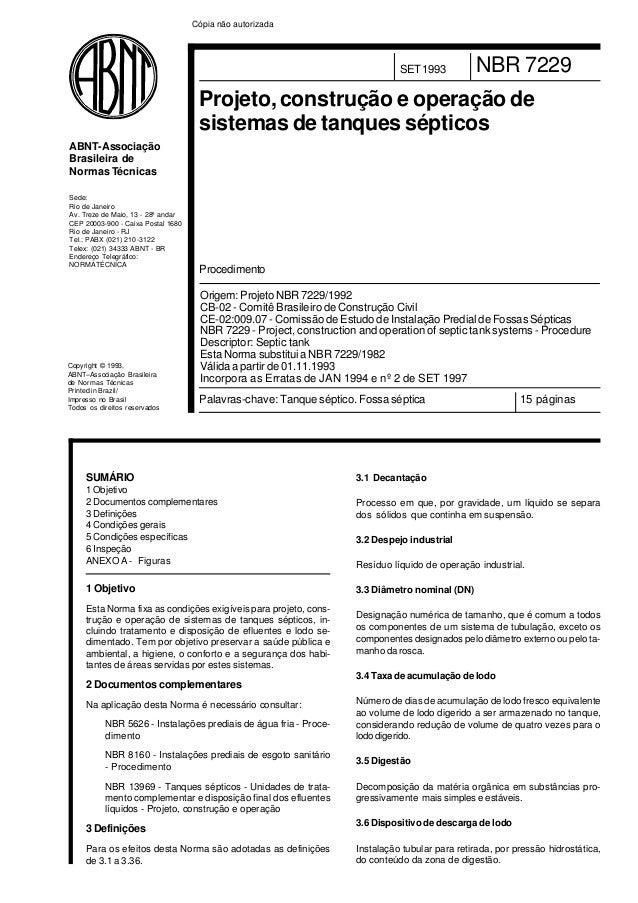 Copyright © 1993, ABNT–Associação Brasileira de Normas Técnicas Printed in Brazil/ Impresso no Brasil Todos os direitos re...