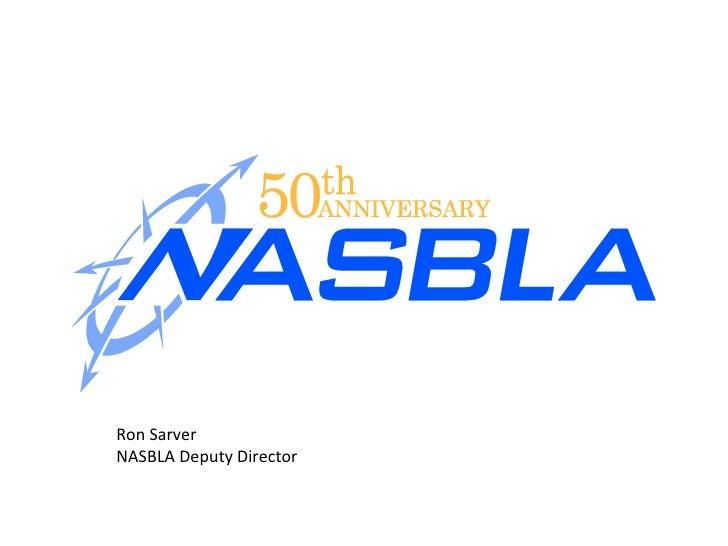 Ron Sarver NASBLA Deputy Director