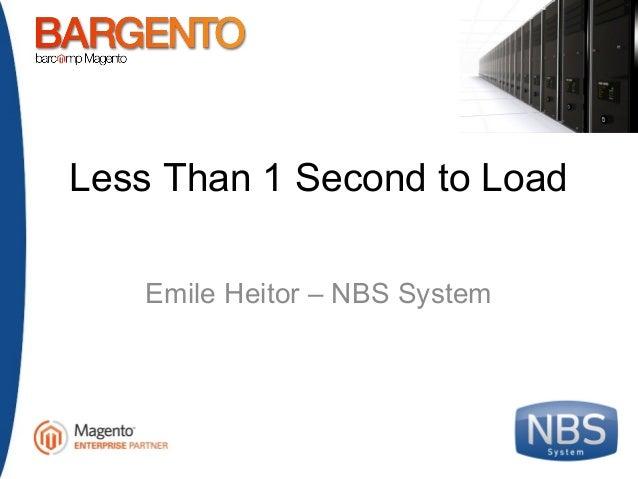 Bargento 1.0 – NBS System – Menos de 1 segundo para cargar Magento