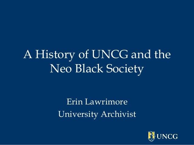 Neo Black Society History Presentation