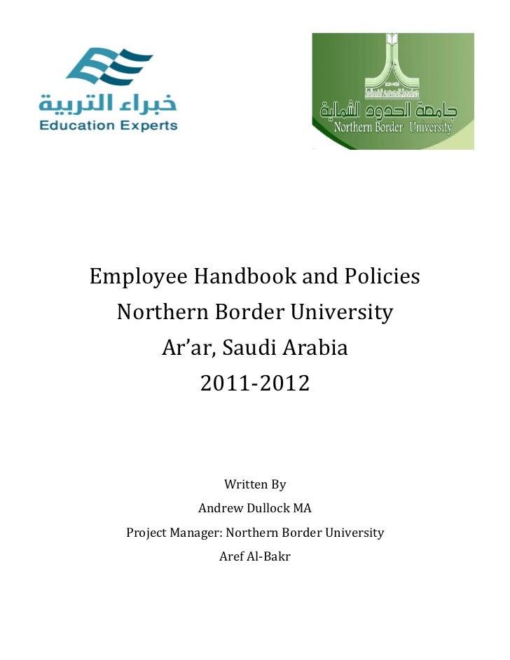 NBU Employee Handbook And Policies