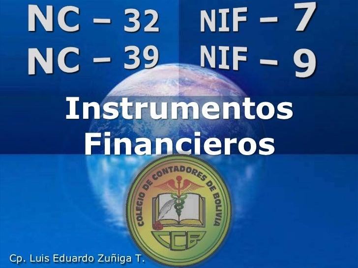 Instrumentos           Financieros                             Company                             LOGOCp. Luis Eduardo Zu...