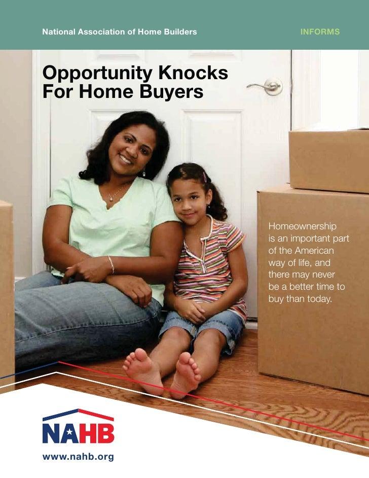 NAHB - Opportunity Knocks for Home Buyer\'s