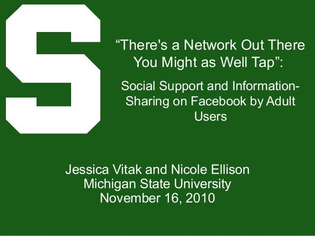 """""""There's a Network Out There You Might as Well Tap"""": Social Support and Information- Sharing on Facebook by Adult Users Je..."""