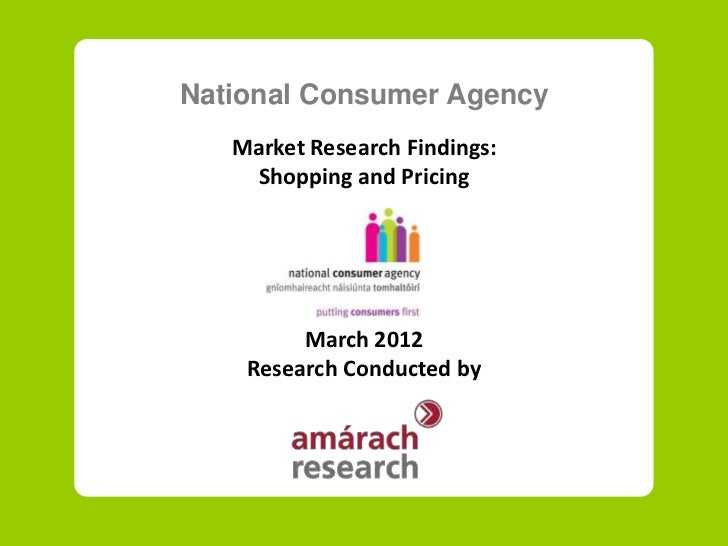 Market Research on shopping and pricing in Ireland