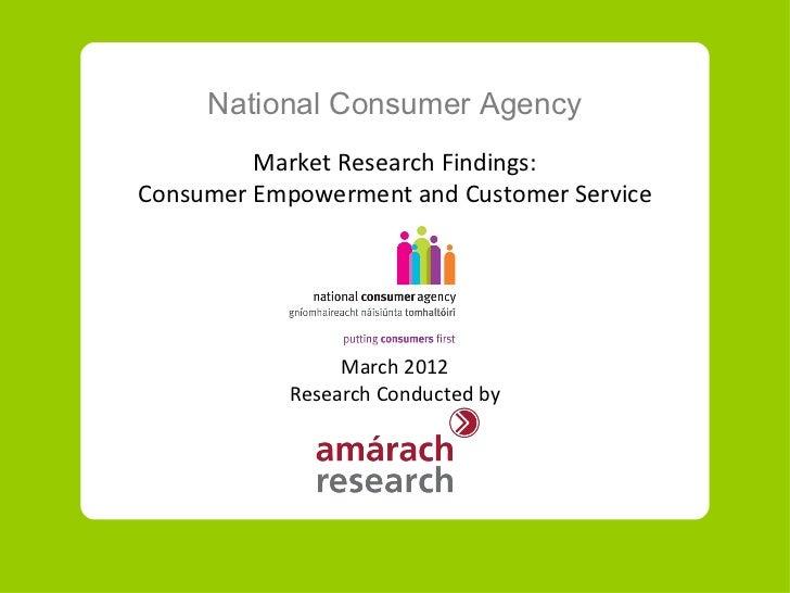 Consumer empowerment and customer service in Ireland