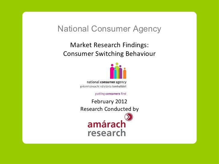NCA research on consumers and switching