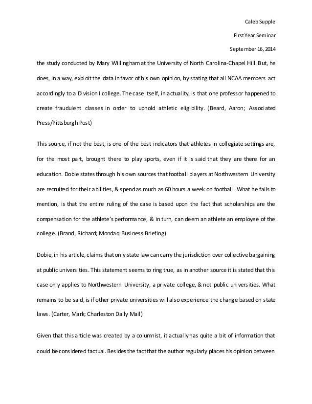 essay question format