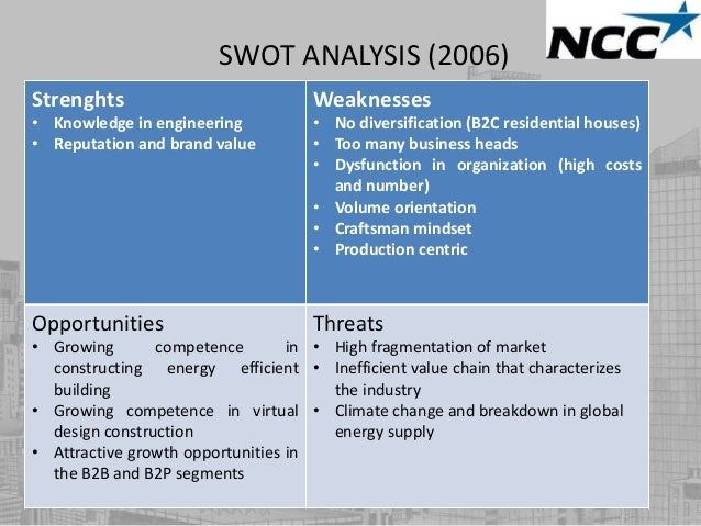 swot analysis of descon engg The strategic planning process of an engineering college must begin with swot analysis in which strengths, weaknesses, opportunities and threats of the.
