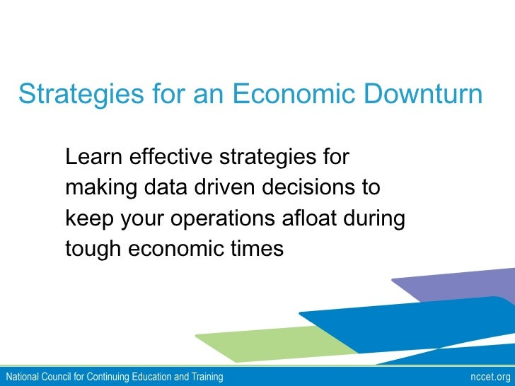NCCET Webinar - Strategies for an Economic Downturn