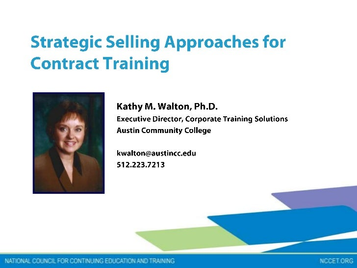 Nccet strategie sales approach to contract training