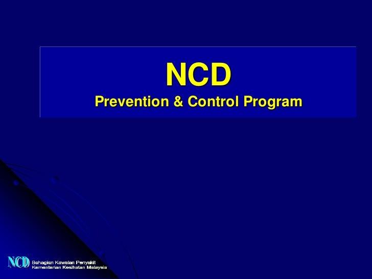 NCDPrevention & Control Program
