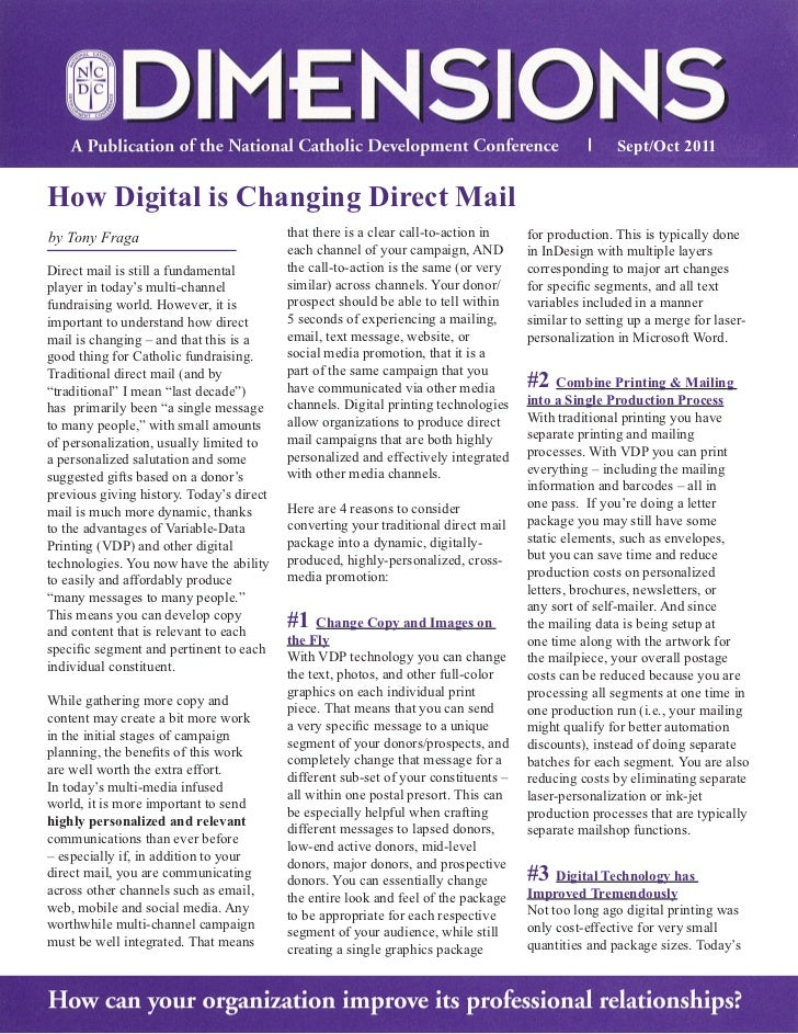 How Digital is Changing Direct Mail