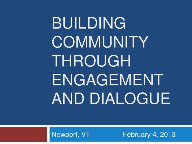 NCDD Presentation for CommunityMatters in Newport Vermont