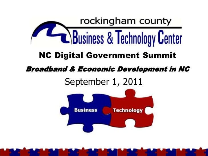Broadband & Economic Development in NC