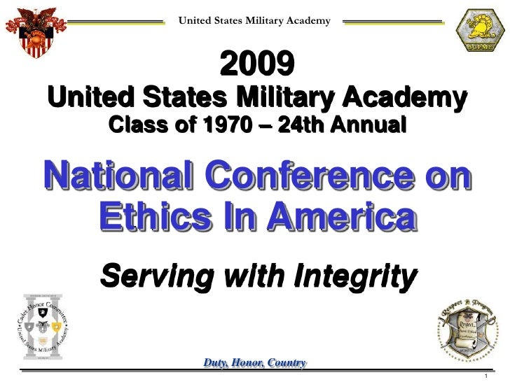 United States Military Academy                      2009 United States Military Academy     Class of 1970 – 24th Annual  N...