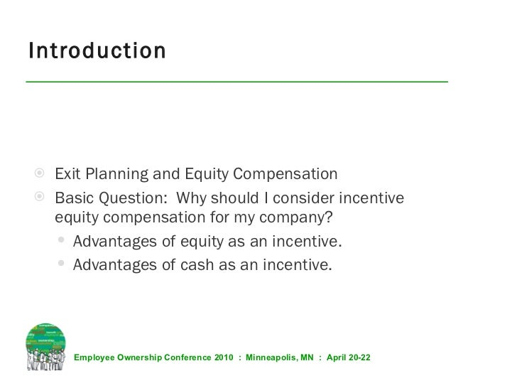 Equity comp who and how much to give