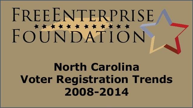 NCFEF Voter Registration Trends