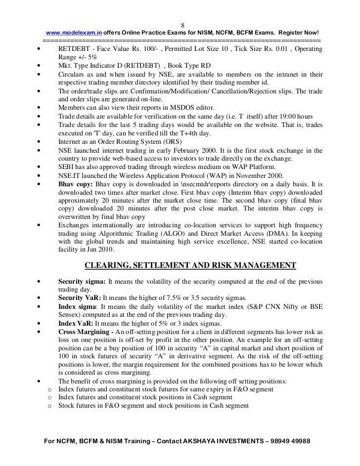 Beginner's Guide to NCFM Certification Exam