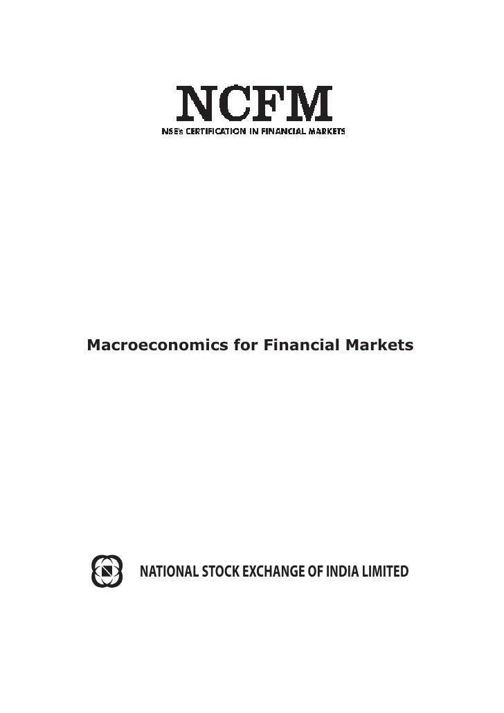 Macroeconomics for Financial Markets     NATIONAL STOCK EXCHANGE OF INDIA LIMITED