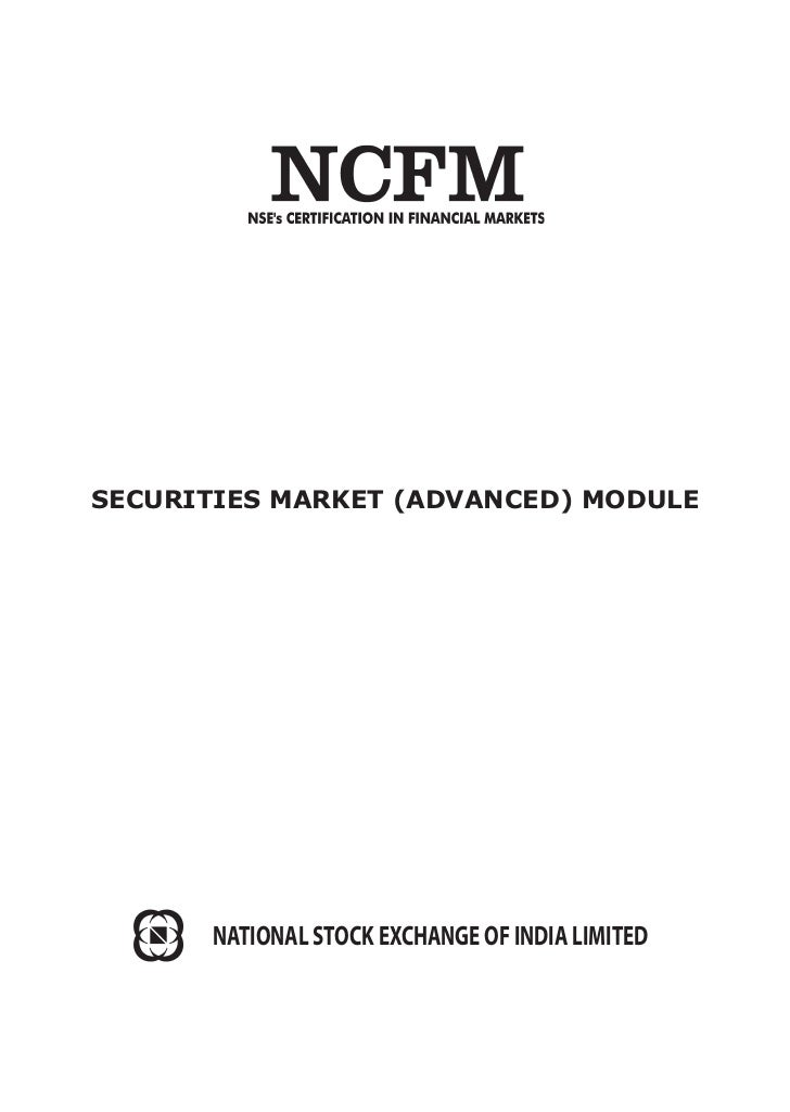 Ncfm security markets