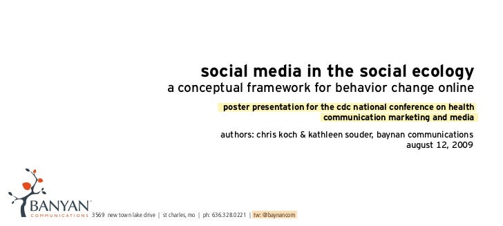 social media in the social ecology                             a conceptual framework for behavior change online          ...