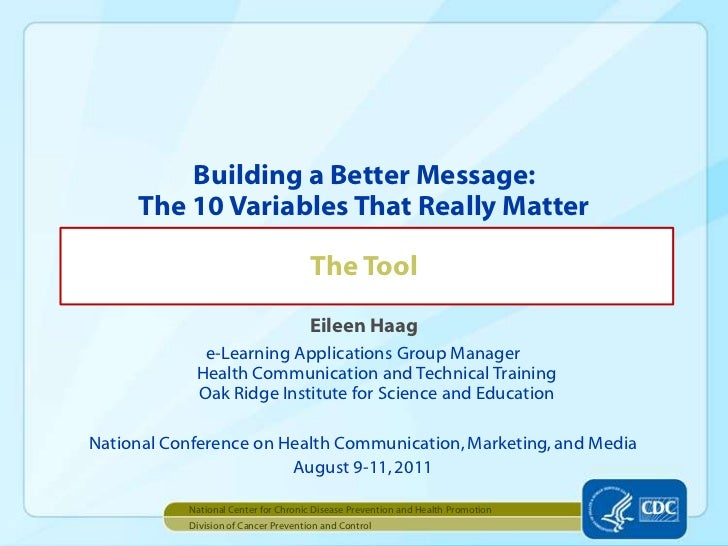 Eileen Haag<br />e-Learning Applications Group ManagerHealth Communication and Technical TrainingOak Ridge Institute for S...